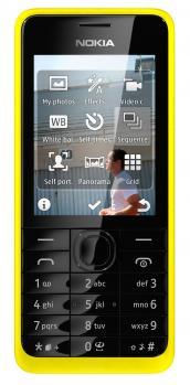 nokia 301 dual sim fronte giallo