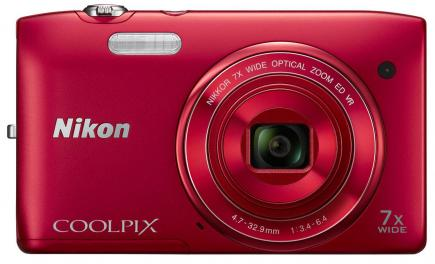 nikon coolpix s3500 fronte red
