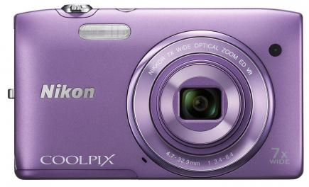 nikon coolpix s3500 fronte purple