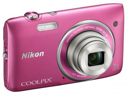 nikon coolpix s3500 3/4 pink