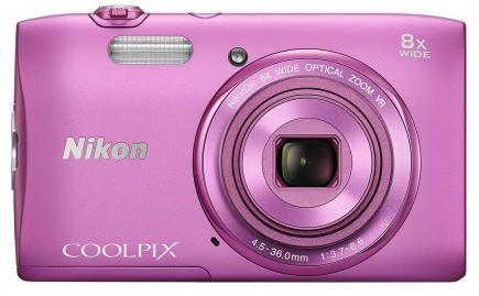 nikon coolpix s3600 fronte pink