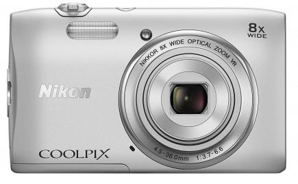 nikon coolpix s3600 fronte silver