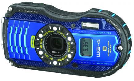 ricoh wg-4 gps 3/4 blue