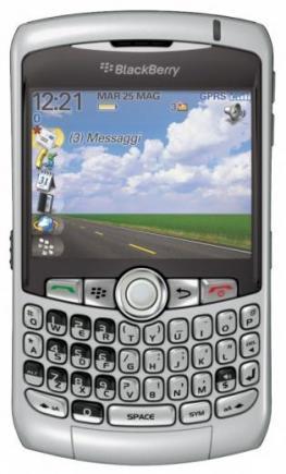 blackberry curve 8300 fronte