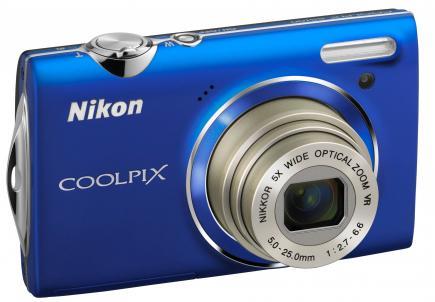 nikon coolpix s5100 3/4 destra blue