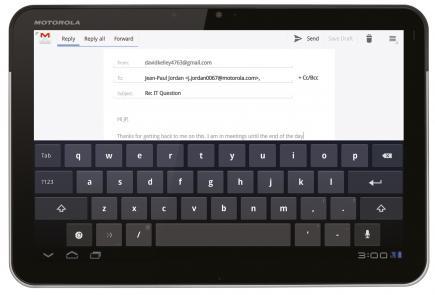 motorola xoom tastiera virtuale