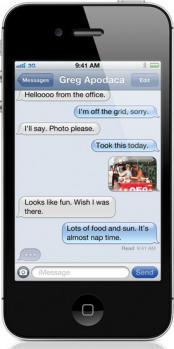 apple iphone 4s fronte black