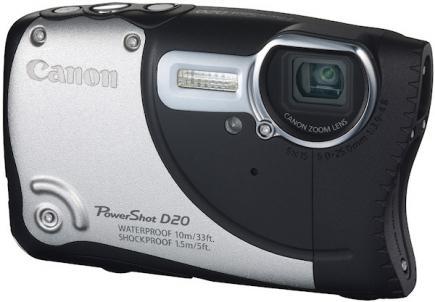 Canon PowerShot D20: vista 3/4 frontale
