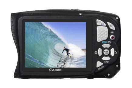 Canon PowerShot D20: vista posteriore