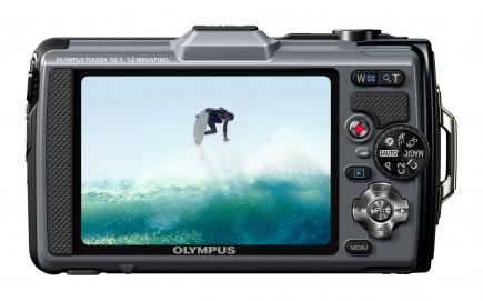 Olympus Tough TG-1: vista posteriore