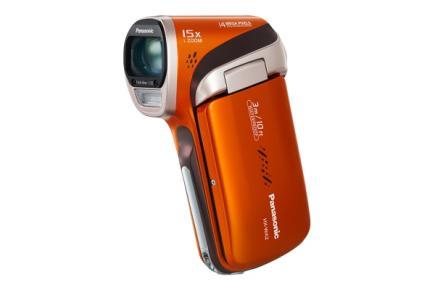 Panasonic HX-WA2: vista 3/4 frontale orange