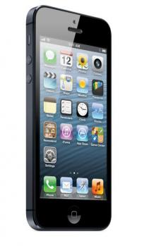 Apple iPhone 5: vista 3/4 frontale black