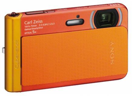 sony cyber-shot dsc-tx30 3/4 orange