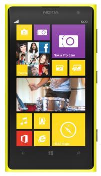nokia lumia 1020 fronte yellow