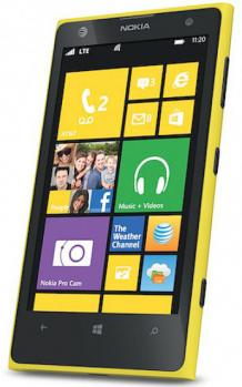 nokia lumia 1020 3/4 yellow