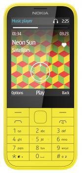 nokia 225 fronte yellow