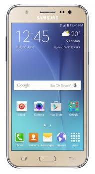 samsung galaxy j5 fronte gold