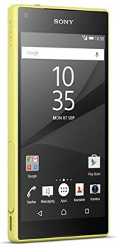 sony xperia z5 compact fronte yellow