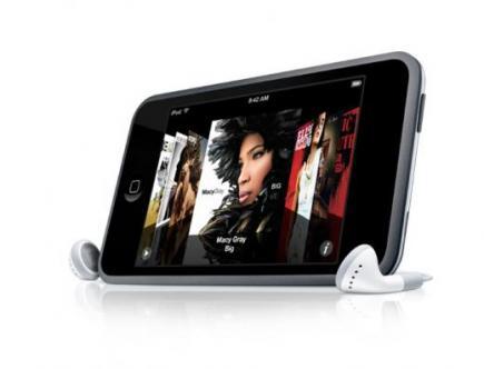 apple ipod touch lato con auricolari