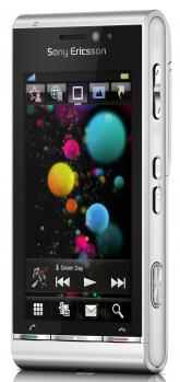 sony ericsson satio 3/4 silver