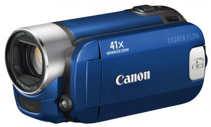 canon legria fs306 3/4 blu