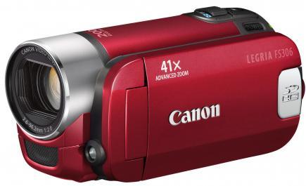 canon legria fs306 3/4 red