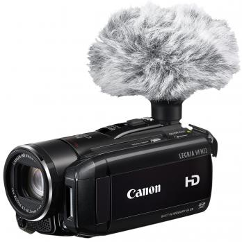 canon legria hf m32 3/4 destra con microfono