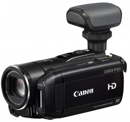 canon legria hf m32 3/4 destra con microfono 2