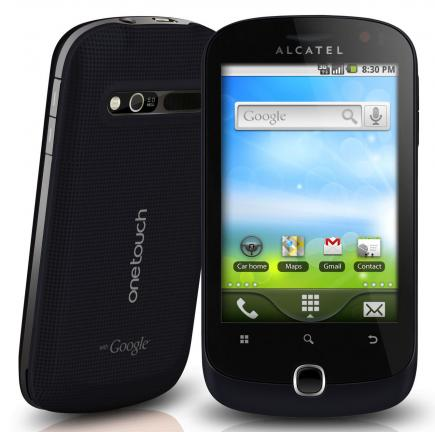 alcatel one touch 990 fronte black