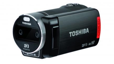 Toshiba Camileo Z100: vista 3/4 frontale