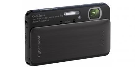 Sony Cyber-Shot DSC-TX20: vista 3/4 frontale destra