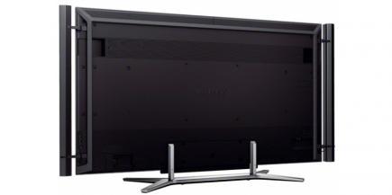 Sony KD-84X9005: vista 3/4 posteriore no stand