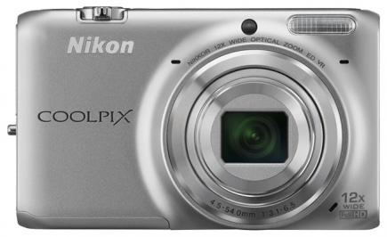 nikon coolpix s6500 fronte argento