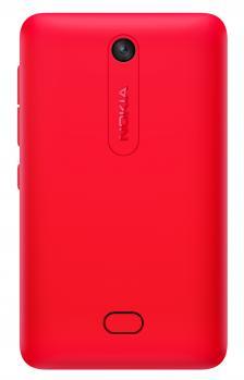 nokia asha 501 dual sim retro cover rossa