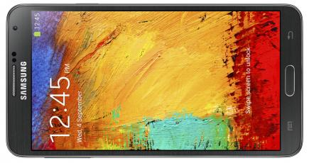 samsung galaxy note 3 fronte black orizzontale