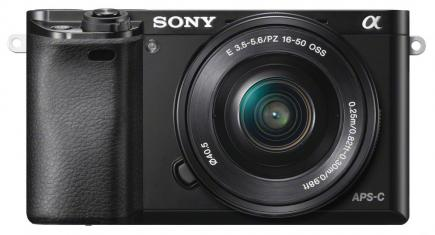 sony a6000 fronte black
