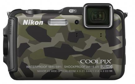 nikon coolpix aw120 fronte verde
