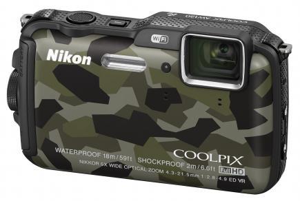 nikon coolpix aw120 3/4 verde