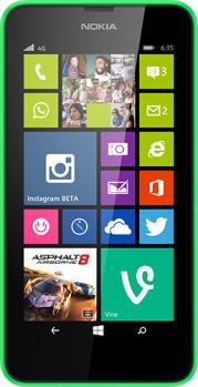 nokia lumia 635 fronte green