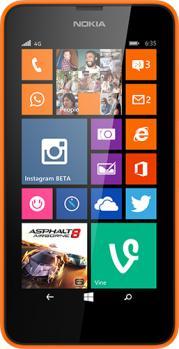 nokia lumia 635 fronte orange
